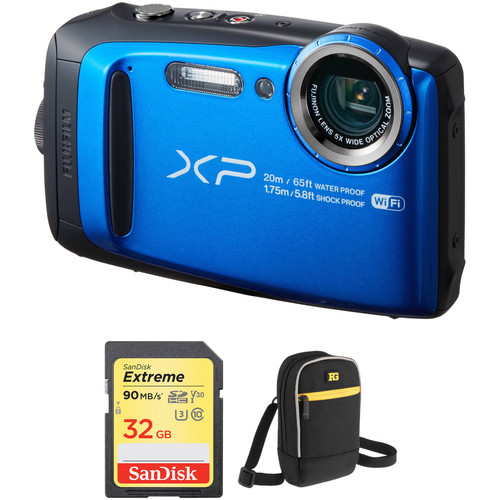 FUJIFILM FinePix XP120 Digital Camera Basic Kit (Blue)