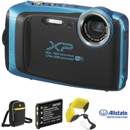 Fujifilm FinePix XP130 Digital Camera Deluxe Kit (Blue)