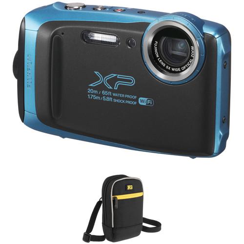 FUJIFILM FinePix XP130 Digital Camera Basic Kit (Blue)