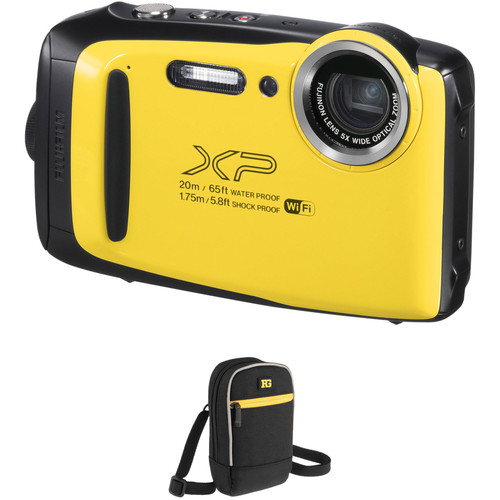 Fujifilm FinePix XP130 Digital Camera Basic Kit (Yellow)