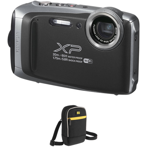 Fujifilm FinePix XP130 Digital Camera Basic Kit (Silver)