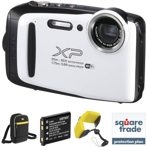 Fujifilm FinePix XP130 Digital Camera Deluxe Kit (White)