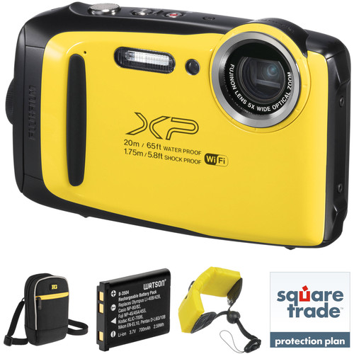 Fujifilm FinePix XP130 Digital Camera Deluxe Kit (Yellow)
