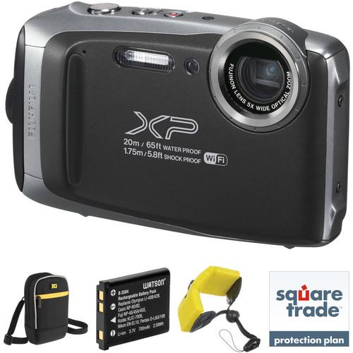 Fujifilm FinePix XP130 Digital Camera Deluxe Kit (Silver)