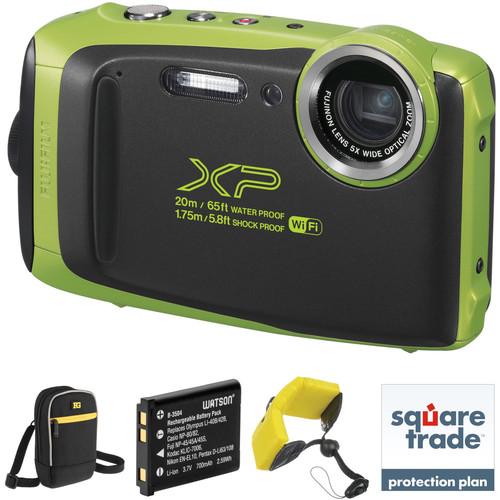FUJIFILM FinePix XP130 Digital Camera Deluxe Kit (Lime)