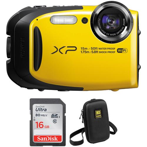 Fujifilm FinePix XP80 Digital Camera Basic Kit (Yellow)