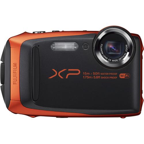 Fujifilm FinePix XP90 Digital Camera Deluxe Kit (Orange)