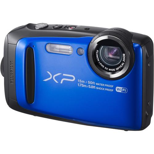 Fujifilm FinePix XP90 Digital Camera Deluxe Kit (Blue)