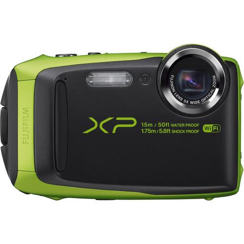 Fujifilm FinePix XP90 Digital Camera Deluxe Kit (Lime)