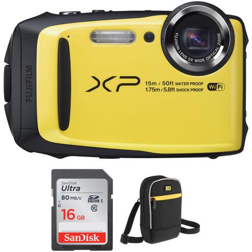 Fujifilm FinePix XP90 Digital Camera Basic Kit (Yellow)