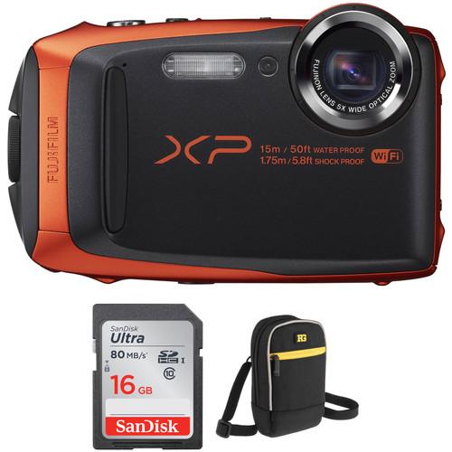 Fujifilm FinePix XP90 Digital Camera Basic Kit (Orange)