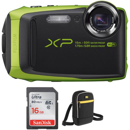 Fujifilm FinePix XP90 Digital Camera Basic Kit (Lime)