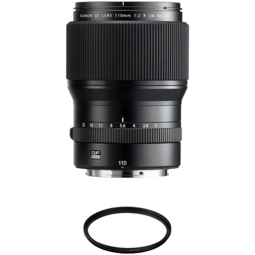 FUJIFILM GF 110mm f/2 R LM WR Lens with UV Filter Kit