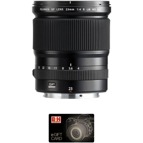 Fujifilm GF 23mm f/4 R LM WR Lens with Gift Card Kit