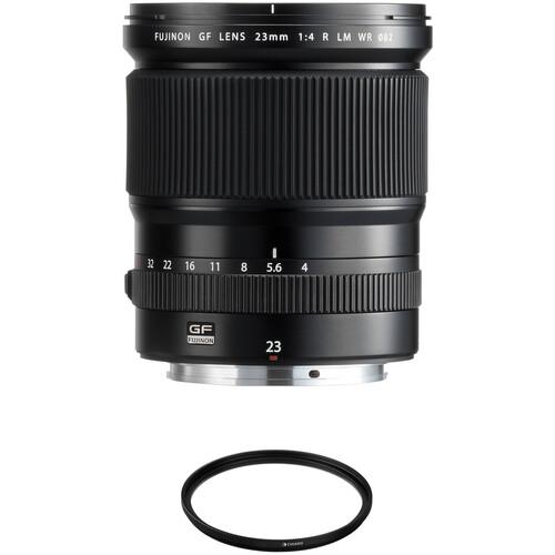 FUJIFILM GF 23mm f/4 R LM WR Lens with UV Filter Kit