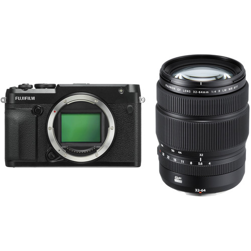 FUJIFILM GFX 50R Medium Format Mirrorless Camera with 32-64mm Lens Kit