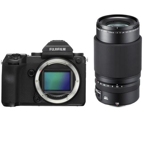 FUJIFILM GFX 50S Medium Format Mirrorless Camera with 120mm Macro Lens Kit