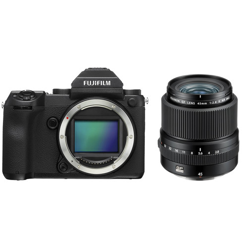 FUJIFILM GFX 50S Medium Format Mirrorless Camera with 45mm Lens Kit