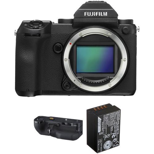 FUJIFILM GFX 50S Medium Format Mirrorless Camera with Battery Grip Kit