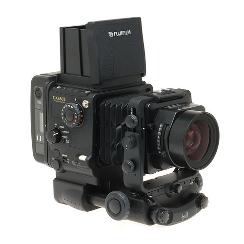 Fujifilm GX680III Professional Medium Format SLR Manual Focus Camera Body (Perspective Control) with 100mm f/4 Lens 120 Film Back and Folding Waist Level Viewfinder