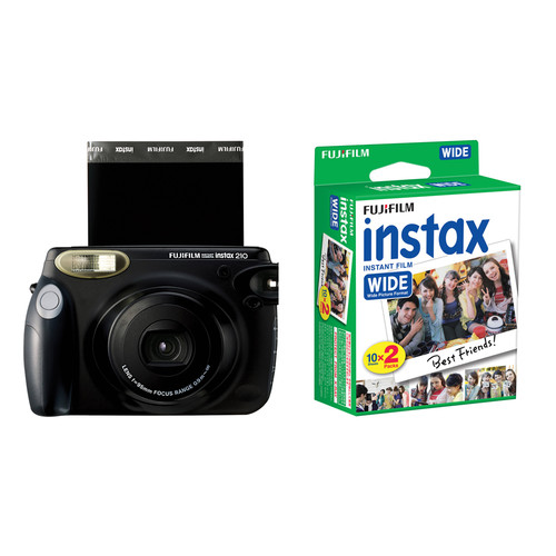 Fujifilm instax 210 Instant Film Camera with instax Wide Instant Film Twin Pack Kit