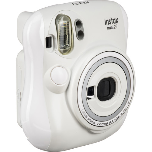 Fujifilm instax mini 25 Instant Camera with NYC Edition Instant Film Kit (White)