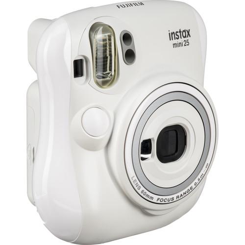 Fujifilm instax mini 25 Instant Camera with NYC Edition Instant Film Kit (White)