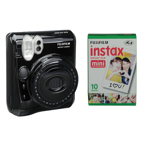 Fujifilm instax Mini 50S Instant Film Camera with Single Pack of Film Kit