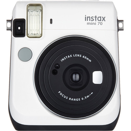 Fujifilm instax mini 70 Instant Film Camera Kit with 20 Sheets instax Film (Moon White)