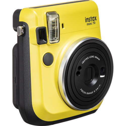 Fujifilm instax mini 70 Instant Film Camera Kit with 30 Sheets of instax Film (Canary Yellow)