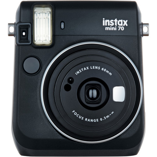 Fujifilm instax mini 70 Instant Film Camera with Monochrome Film Kit (Midnight Black)