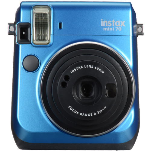 Fujifilm instax mini 70 Instant Film Camera with Single Pack of Film Kit (Island Blue)