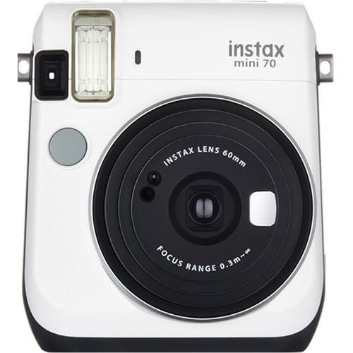 Fujifilm instax mini 70 Instant Film Camera with Monochrome Film Kit (Moon White)