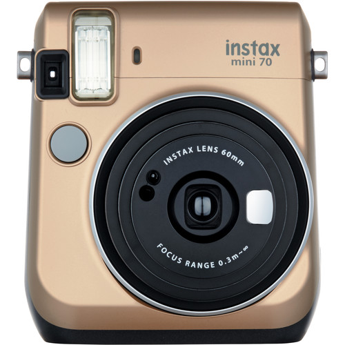 Fujifilm instax mini 70 Instant Film Camera with Monochrome Film Kit (Stardust Gold)