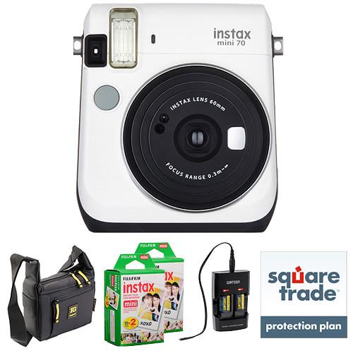 Fujifilm instax mini 70 Instant Film Camera Deluxe Kit (Moon White)