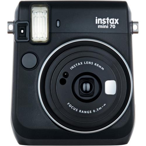 Fujifilm instax mini 70 Instant Film Camera Kit with 20 Sheets instax Film (Midnight Black)