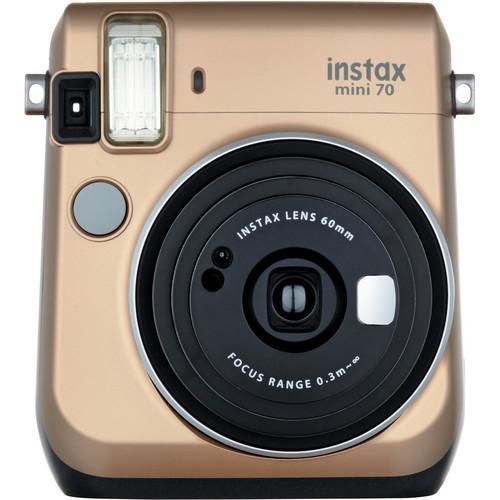 Fujifilm instax mini 70 Instant Film Camera Kit with 20 Sheets instax Film (Stardust Gold)