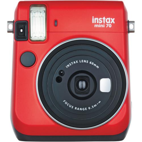 Fujifilm instax mini 70 Instant Film Camera Basic Kit (Passion Red)