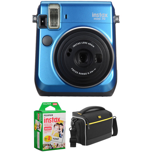 Fujifilm instax mini 70 Instant Film Camera Basic Kit (Island Blue)