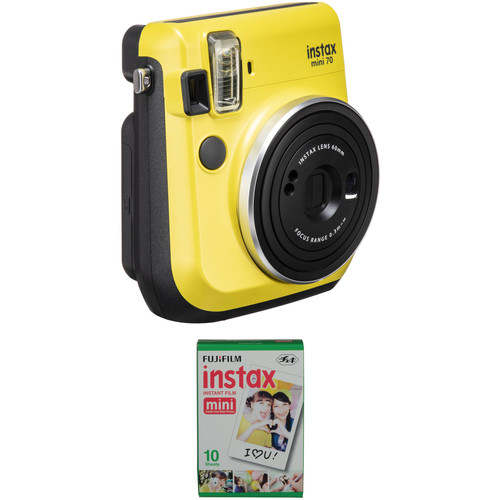 Fujifilm instax mini 70 Instant Film Camera with Single Pack of Film Kit (Canary Yellow)