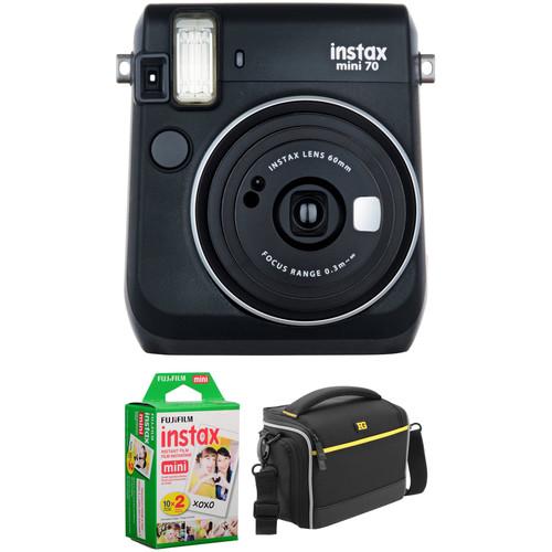 Fujifilm instax mini 70 Instant Film Camera Basic Kit (Midnight Black)