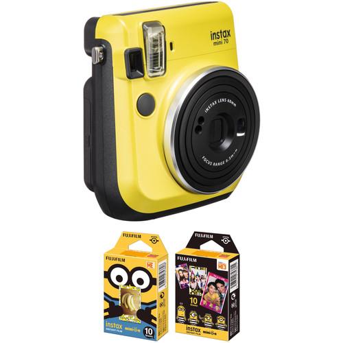 Fujifilm instax mini 70 Instant Film Camera with NYC Instant Film Kit (Canary Yellow)