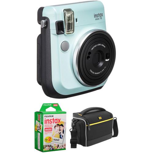 FUJIFILM INSTAX Mini 70 Instant Film Camera Basic Kit (Icy Mint)