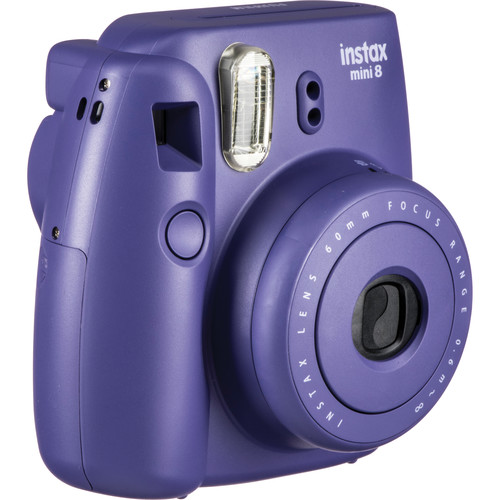 Fujifilm instax mini 8 Instant Film Camera with Twin Pack of Instant Color Film Kit (Grape)