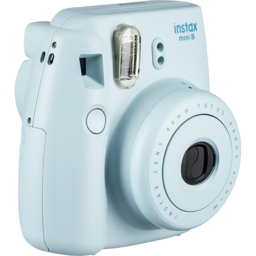 Fujifilm instax mini 8 Instant Film Camera with Twin Pack of Instant Color Film Kit (Blue)