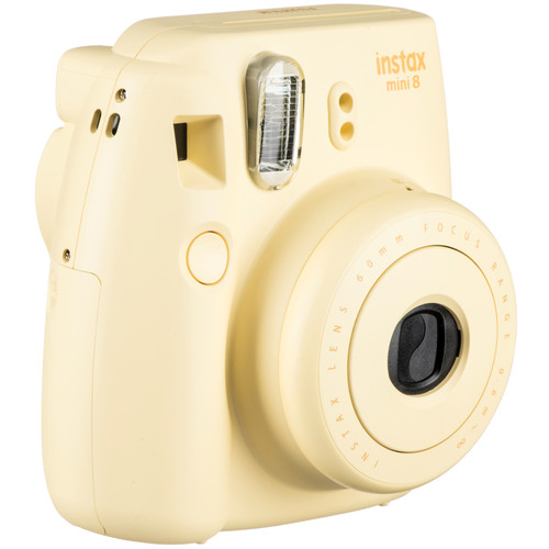 Fujifilm instax mini 8 Instant Film Camera with Twin Pack of Instant Color Film Kit (Yellow)