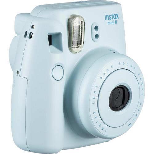 Fujifilm instax mini 8 Instant Film Camera & Rainbow Instant Film Kit (Blue)