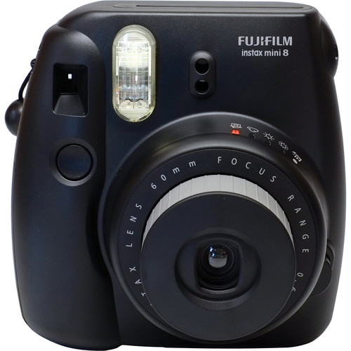 Fujifilm instax mini 8 Instant Film Camera & Case Kit (Black)