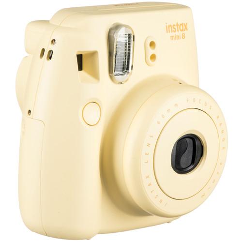 Fujifilm instax mini 8 Instant Film Camera with Single Pack of Film Kit (Yellow)