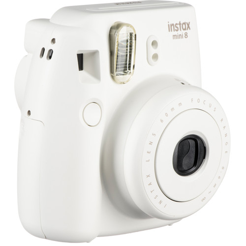 Fujifilm instax mini 8 Instant Film Camera & Rainbow Instant Film Kit (White)